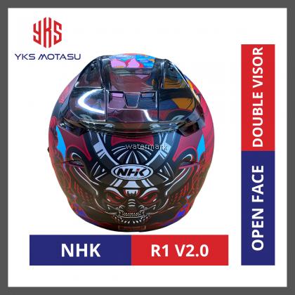NHK R1 V2.0 SAMURAI DOUBLE VISOR OPEN FACE HELMET